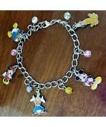 New Vintage DISNEY Fab 5 Mickey Minnie Donald Pluto Goofy Silver Charm B... - $39.95