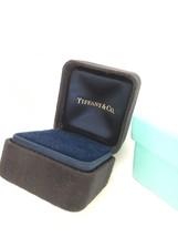 Tiffany & Co Engagement Ring Box Black Suede Presentation Blue Box - $95.00
