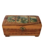 Decorative Design Jewelry Wood Box With Lock, Keys, and Beautiful Mirror - $15.00
