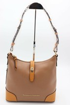 NWT Dooney & Bourke Claremont Tan Brown Leather Hobo Shoulder Bag New - $178.00