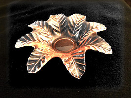 Vintage depression glass.  Small flower plate, Pink - $14.95