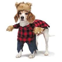 Dog Halloween Costume Scary Werewolf Fake Arms Red Plaid Shirt Pants Fur... - $29.89
