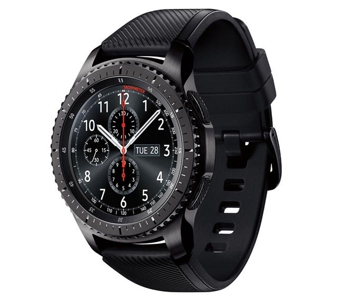 Samsung Gear S3 Frontier Smartwatch SM-R760 Bluetooth Ver. [Dark Gray] Displayed