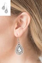 Diamond Dazzle - White Earrings - $5.00