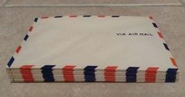 Vintage 1940s Via Air Mail Envelope Unused postal USPS 6 1/2 x 3 5/8 PAC... - $19.59