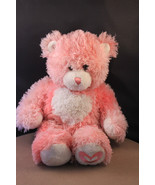 Build A Bear Pink Long Hair Bear with Heart on Chest/Foot and Magnetic H... - $5.23