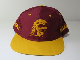 Maroon RARE Vintage 90's USC Trojans NCAA Snapback Deadstock Hat Cap Logo 7 NWT - $39.60