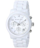 Michael Kors MK5161 Ceramic White Tone RUNWAY Chronograph Ladies Wrist Watch - $120.00