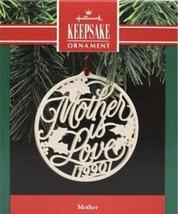 "HALLMARK KEEPSAKE ORNAMENT 1990 ""MOTHER IS LOVE"" - CERAMIC - $7.69"
