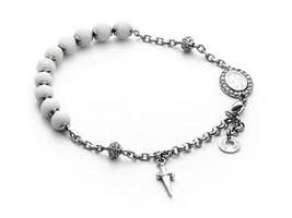 Bracelet Cesare Paciotti Silver 925 and Steel Madonna Miraculous JPBR1323B - $104.34