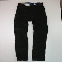 NWT Tommy Hilfiger 36 x 32 Deep Green Slim Fit Corduroy Flat Front Pants - $54.45