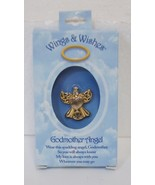 DM Merchandising Wings Wishes Godmother Angel Gold Colored Angel Holding... - $8.95