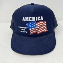 Vintage America Support Our Troops SnapBack Trucker Hat  - $14.84