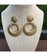 Brown Tones Faux Wood Pierced Hoop Earrings. - $12.77