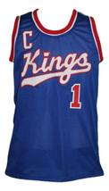 Nate Archibald #1 Cincinnati Royals Kings Basketball Jersey New Blue Any Size image 4