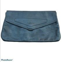 phillippe vintage black leather envelope clutch - $21.78