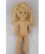 """Playmates Cloth Doll Blond Blue Eyes 16"""" 1986 - $7.15"""