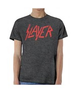 Slayer Distressed Logo Heavy Thrash Metal Rock Music Band T Shirt SLA10258 - $26.00+