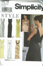 Simplicity Sewing Pattern 9218 Dress Evening Formal Size 6-16 - $11.69