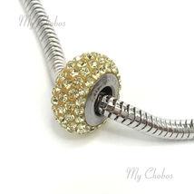 Swarovski European Bracelet Charm Stainless BeCharmed Silm Pave Xilion Chaton image 14