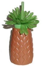 Summer Spring Hawaii Fun Luau Pineapple Sipper Bottles Cups with Straws,... - £11.10 GBP