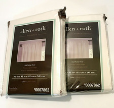 "Allen + Roth Florence Rod Pocket Panel Pair 2-40/95"" Cream  #0007862 - $48.38"