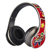 Super Mario Nintendo Gold Headphones FM, Bluetooth & SD CARD - $26.00