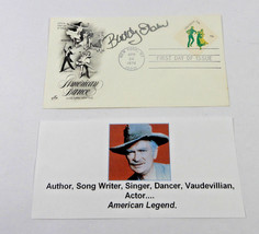 1978 AMERICAN DANCE RIRST DAY OF ISSUE ENVELOPE AND STAMP SIGNED BY BUDD... - $16.48