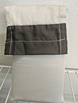 king size (2) pillowcase 20x40'' 300 thread GRAY/GREY project 62 new with tags. image 2