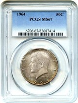 1964 50c PCGS MS67 - Scarce Superb Gem - Kennedy Half Dollar - Scarce Su... - $801.90