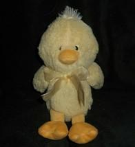 """10 """" Animale Avventura 2014 Pasqua Bambino Giallo Duck W Fiocco Peluche - $22.90"""