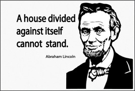 Flag 3X5 Abraham Lincoln A House Divided Can not stand Republican banner - $9.98