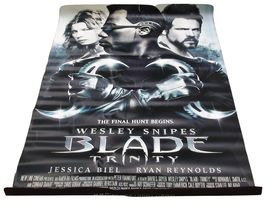 2004 BLADE: TRINITY Movie Theater Poster 48x70  Double-Sided (8) - $44.99