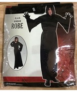 Nylon Horror Robe Halloween Costume with Hood for Adults Black One Size ... - $12.19