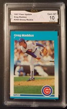 Greg Maddux 1987 Fleer Update Glossy #U-68 graded GMA 10 Chicago Cubs ca... - $34.19