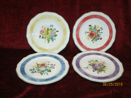 "Mikasa Antique Garden  set of 4 bread / tidbit plates 7 1/8"" - $9.85"