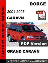 Dodge 2001 - 2007 Caravan & Grand Caravan Official Service Repair Shop Manual - $14.95