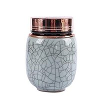 Kylin Express Unique Style Mini Ceramic Tea Canister Tea Storage Container Seal  - $17.94