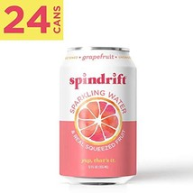 Spindrift Sparkling Water, Grapefruit Flavored, Made with Real Squeezed Fruit, 1