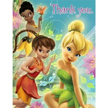 Tinkerbell and Fairies Party Thank You Cards 8 Per Package Birthday Party Supply - $4.21