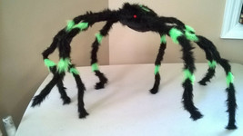 "Halloween Large 27""+ Black & Purple Furry Spider Poseable & Bendable Legs - $13.99"