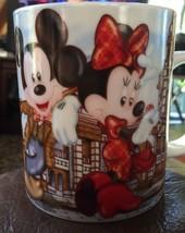 Disneyland Mickey And Minie Hong Kong Coffee Cup With Chipmunks Very Nice - $27.58