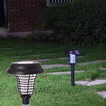 Outdoor Solar Mosquito Insect Pest Zapper Killer Garden Light Lamp W/ Ba... - $14.75