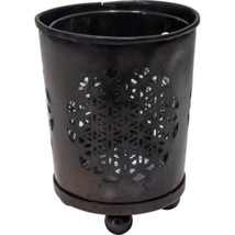 Metal Flower of Life Votive Holder w/ Clear Glass Insert - $7.95