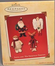 Hallmark - Santa and His Sweetest Friends - Set of Four - Keepsake Ornament - $8.90