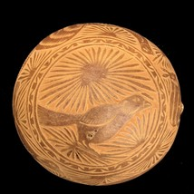 Hand Carved Calabash Gourd Unpainted Jicama Bowl from Mexico - $29.70