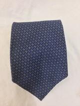 Tommy Hilfiger Silk Tie Blue Brick Design - $12.86