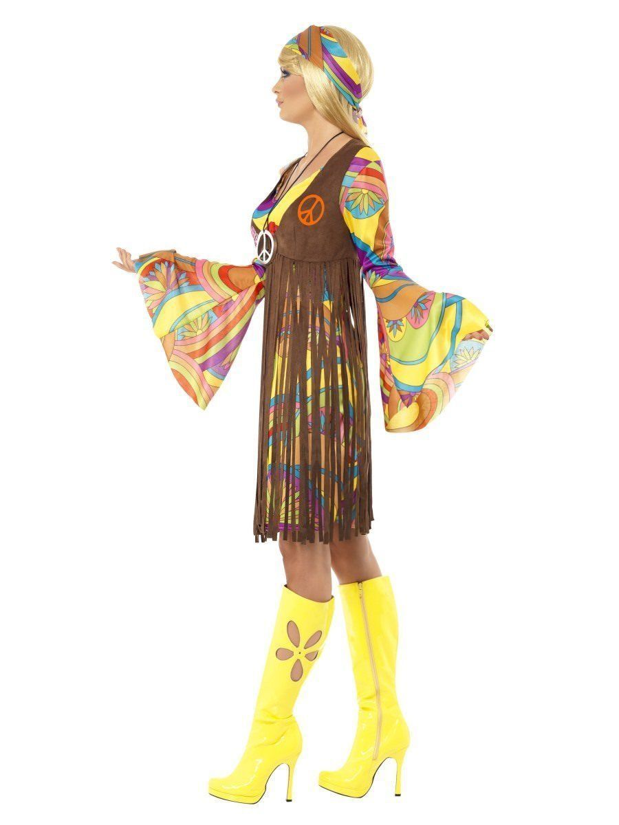 Smiffys 1960s Groovy Femmes Hippie Peace Love Adulte Déguisement Halloween 35531