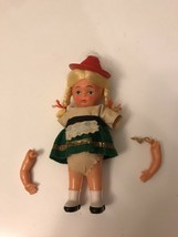 Hard Plastic 6 inch 1950's  Doll AS SHOWN - $9.50