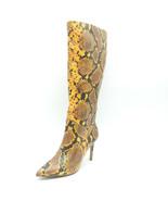 Steve Madden Womens Kinga Tall Fashion Boot Gold Black Snake Skin  Sz 6M NEW - $37.99